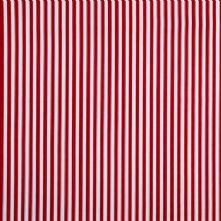 Wine Red and White Striped Burberry Shirting 100% Cotton Fabric x 0.5m